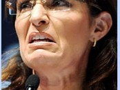 Palin at a recent conference, shocking  her supporters with her face of sin.