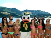 Only the mascot was having proper relations on this trip.