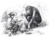 "Lonnie Childs encountering ""The Sasquatch""."