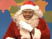 Example of someone dressed as Santa Claus in Black-Face
